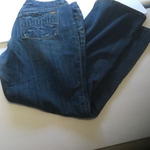 Medium dark blue jeans by Sevens